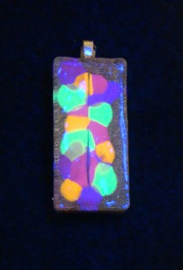 Orgone Pendant - Under Black Light